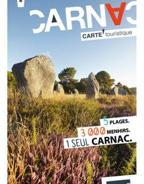 Carte Carnac et plan touristique couverture de l'édition 2019