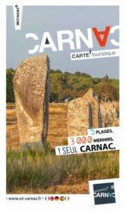 Carte Carnac et plan touristique couverture de l'édition 2020