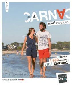 Couverture Magazine touristique et guide d'hébergements 2021 Office de tourisme de Carnac