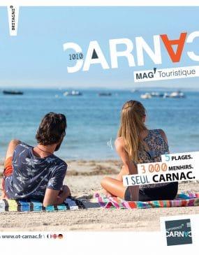 Page de couverture Mag touristique Carnac 2020