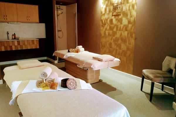 Cabine de soins du Spa Nuxe de l'hôtel Le Diana à Carnac