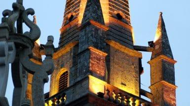 Patrimoine à Carnac le clocher de l'église Saint Cornély