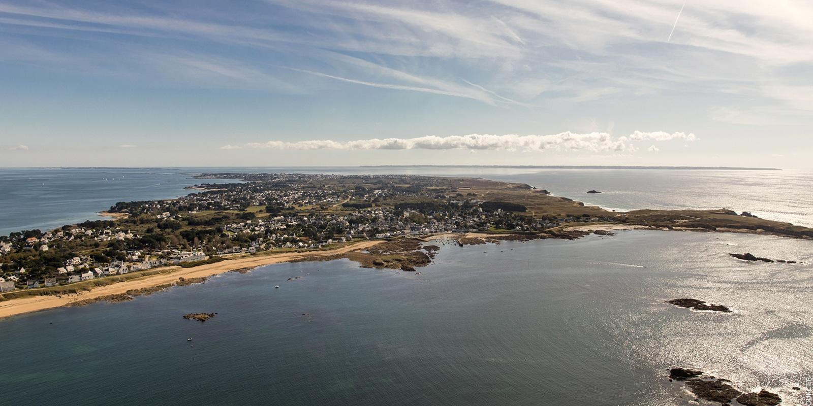 Vue aérienne sur la presqu'île de Quiberon copyright Simon BOURCIER Morbihan Tourisme