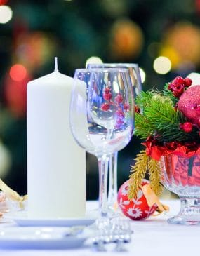 Table de fêtes à Noël