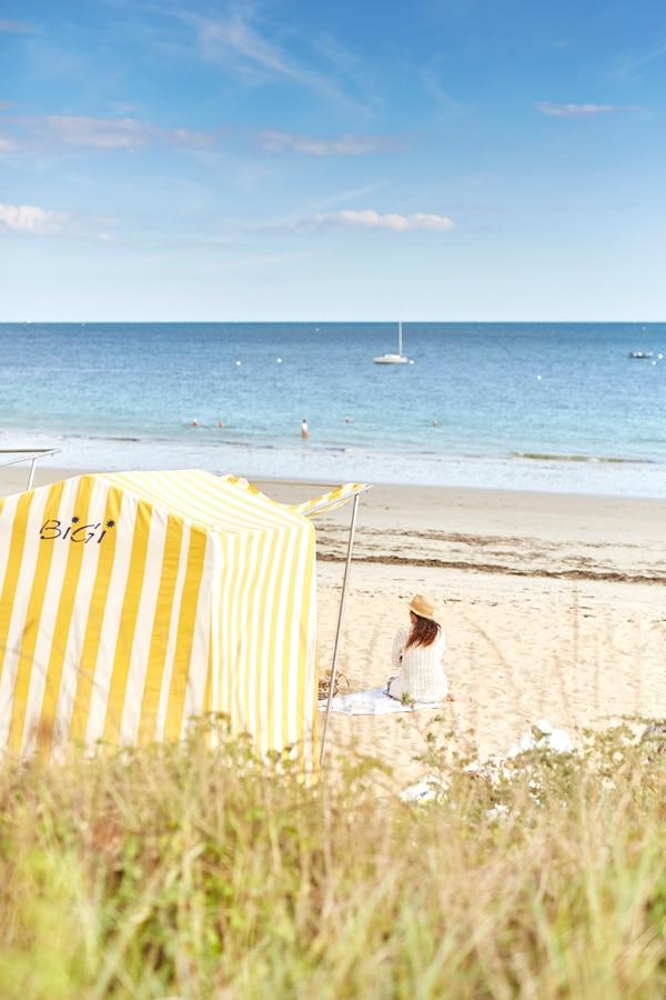 Tente de plage à Carnac