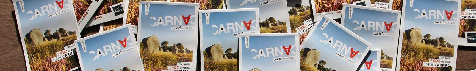 Carte et plan touristique édité par l'Office de tourisme de Carnac
