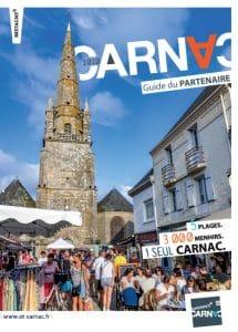 Page de couverture du Guide du partenaire de l'Office de tourisme de Carnac