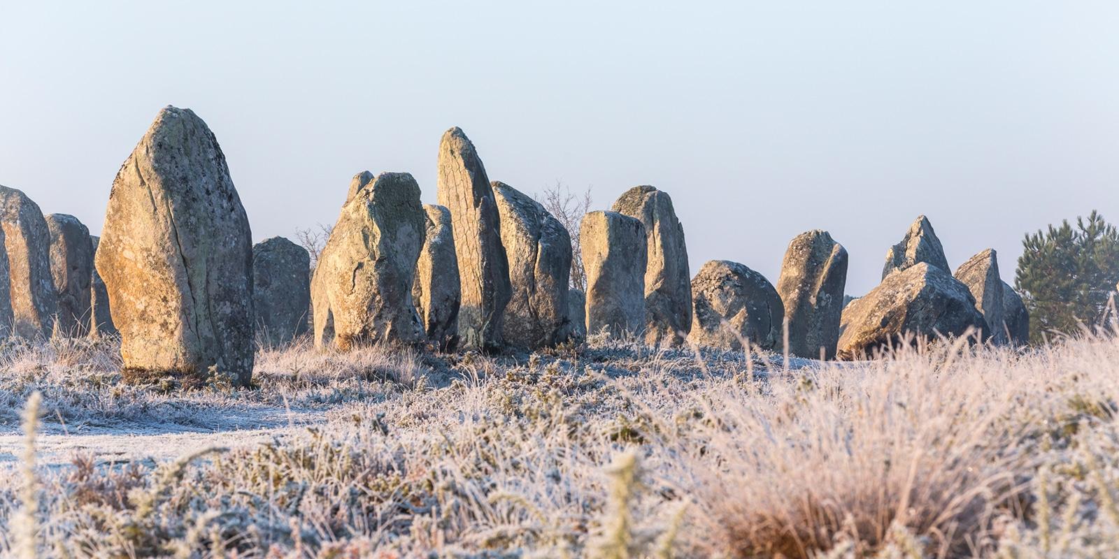Menhirs de Carnac lors d'un séjour à Noël et les fêtes de fin d'année