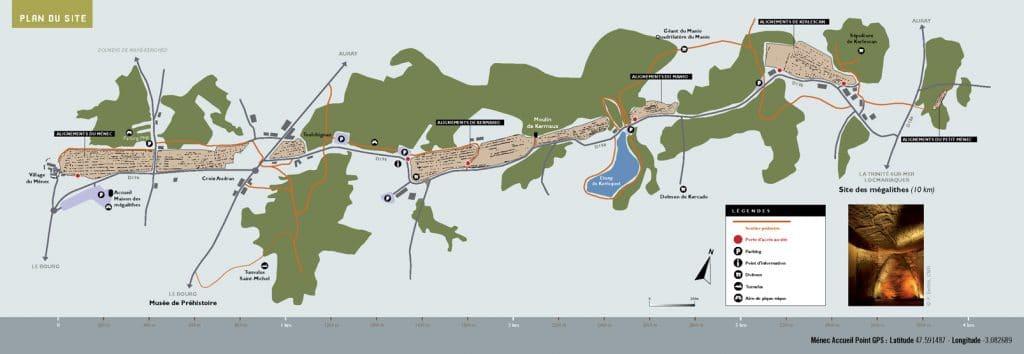 Plan 2019 des alignements de Carnac
