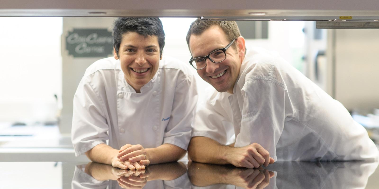 Les chefs du restaurant étoilé Côté Cuisine à Carnac