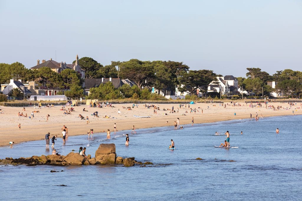 Grande plage vue de la point de Churchill