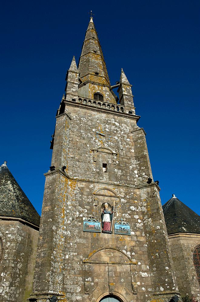 Statuette église St Cornely à Carnac