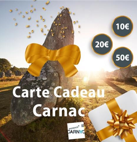 Carte cadeau Carnac