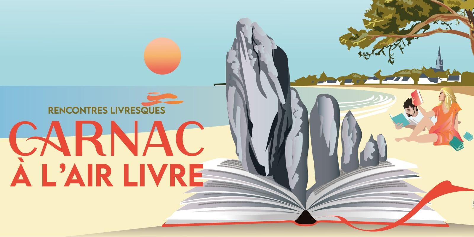 Affiche de Carnac à l'air livre rencontres livresques juin 2021