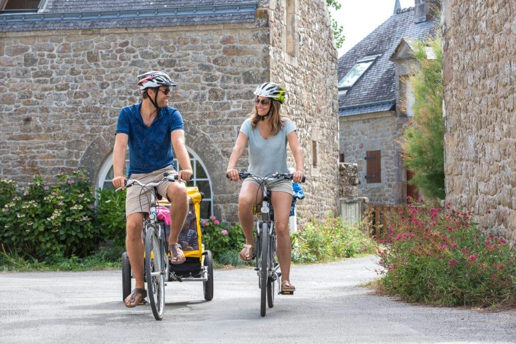 Balade à vélo à Carnac en famille