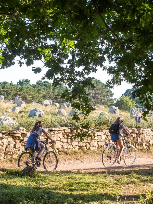 Promenade vélo menhirs Carnac